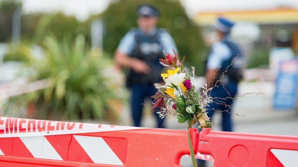 Police cordon at shootings scene