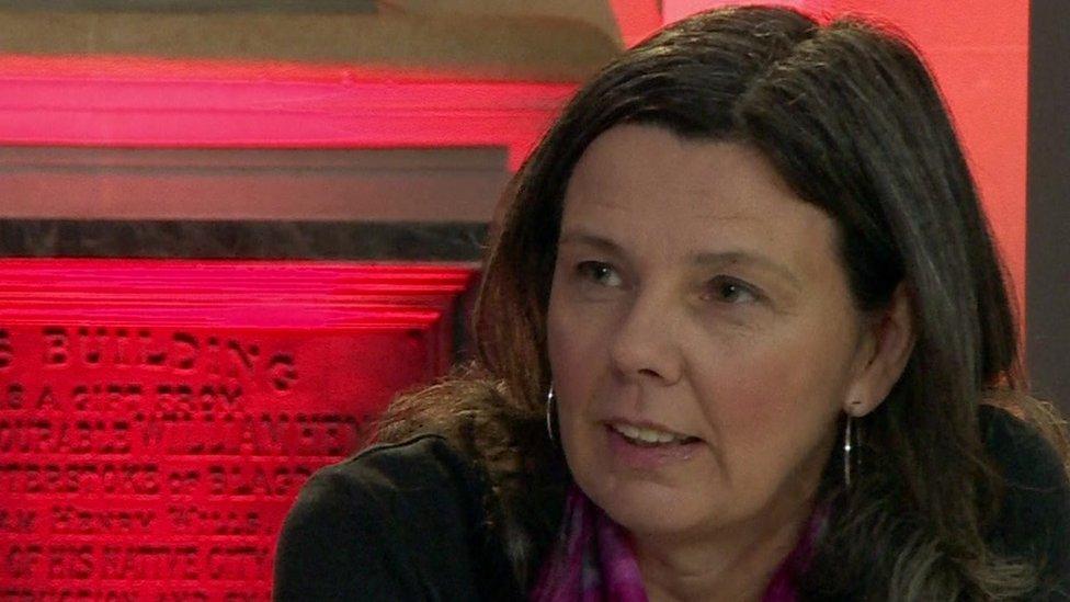 Helen Bailey on BBC TV in December 2015