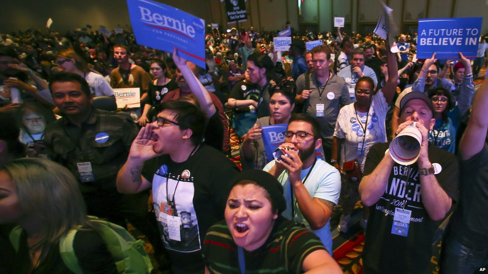 Sanders supporters attempt to disrupt the Nevada Democratic convention