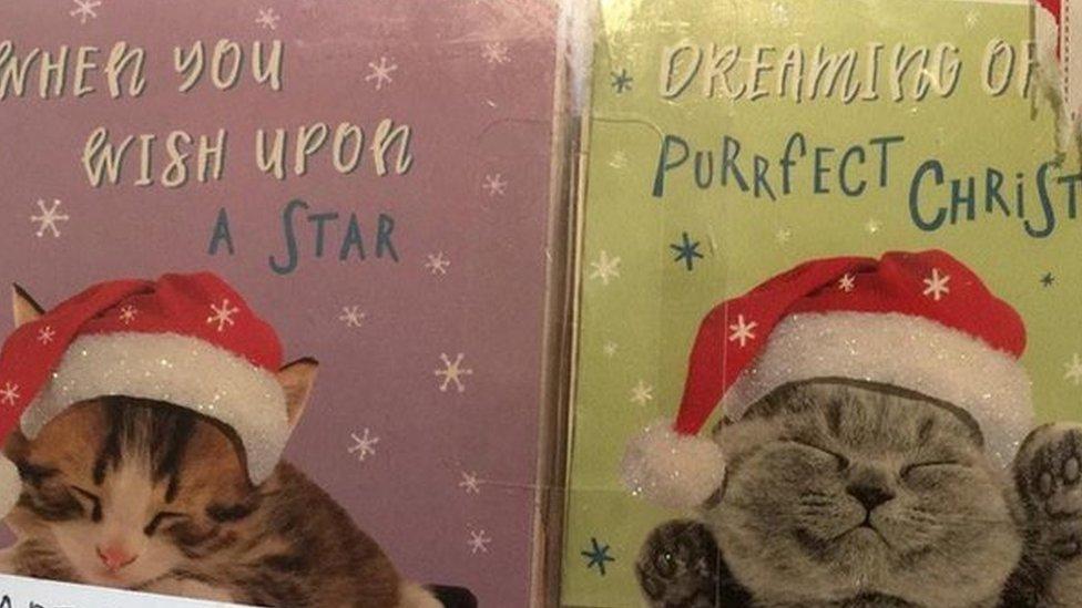 Las tarjetas de Tesco con gatitos
