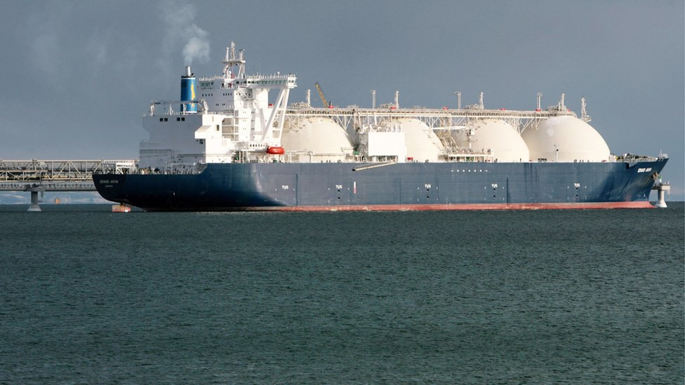 The distinctive LNG carrier
