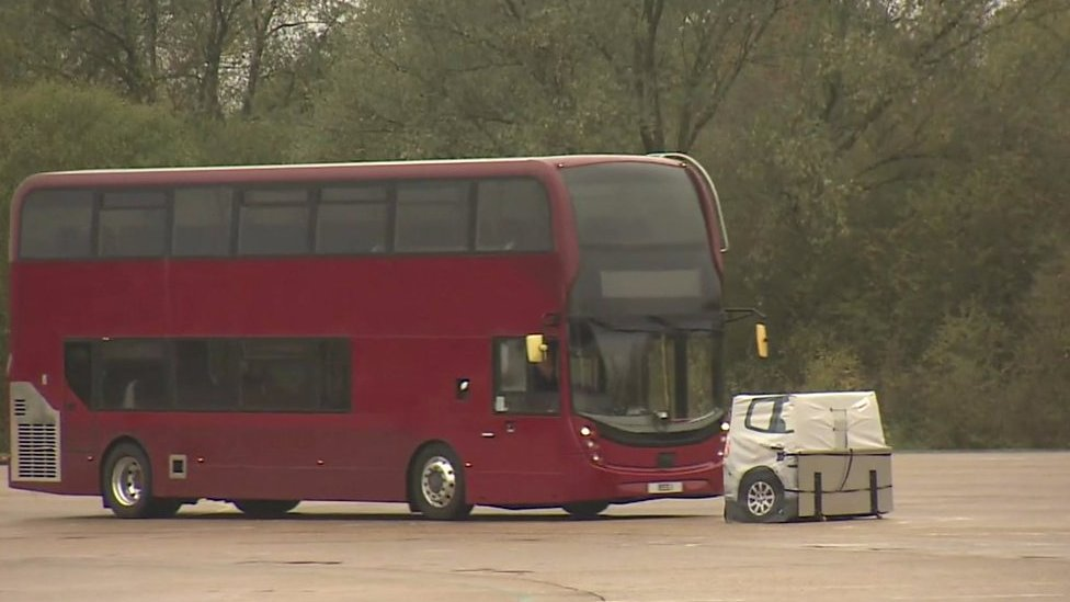 The London buses with emergency brakes