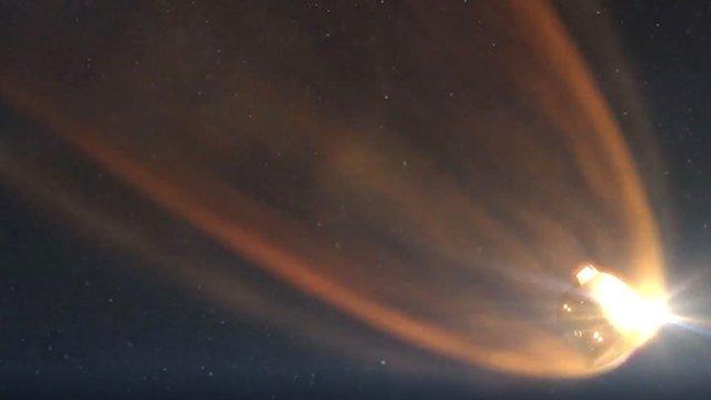 Artwork: Entry into atmosphere