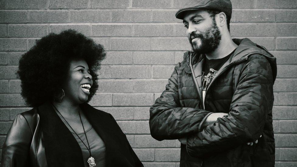 Dr Mena Fombo and Michael Jenkins
