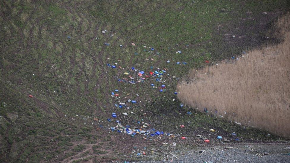 plastics on Solway coast