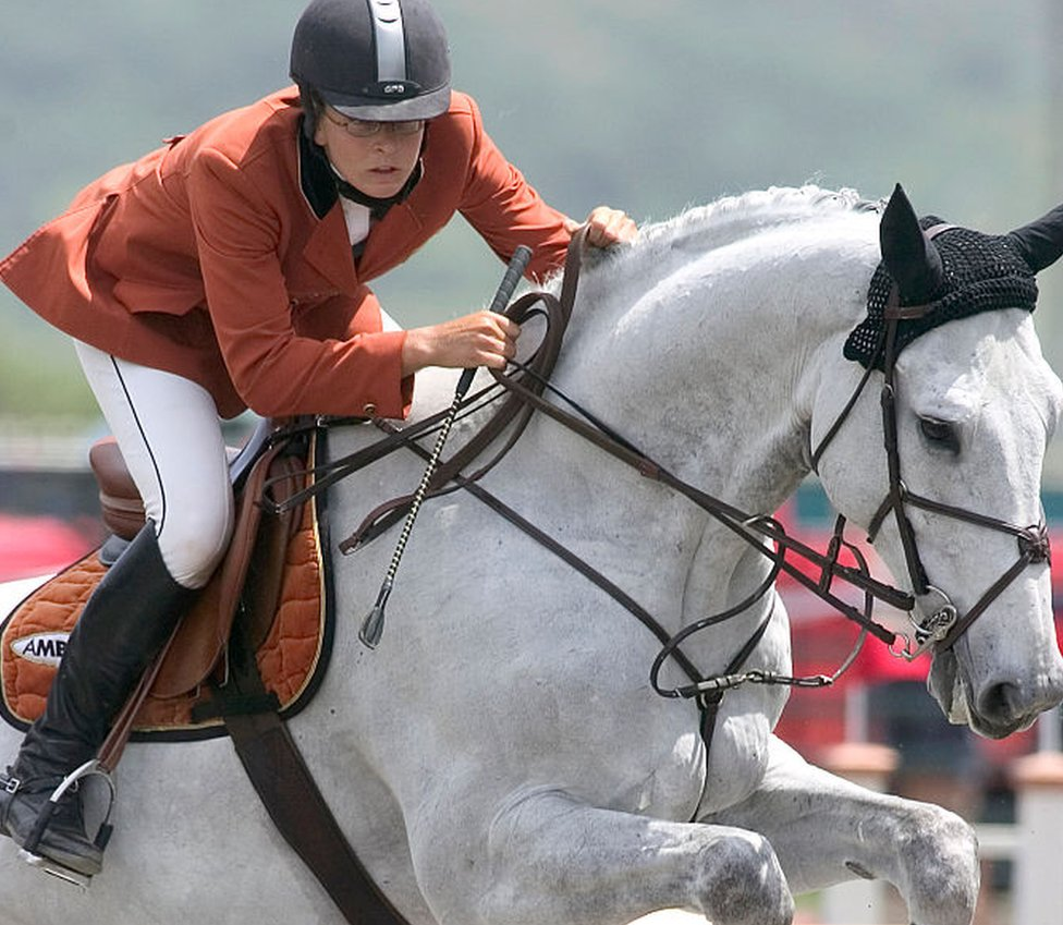 Ms Bronfman on a horse