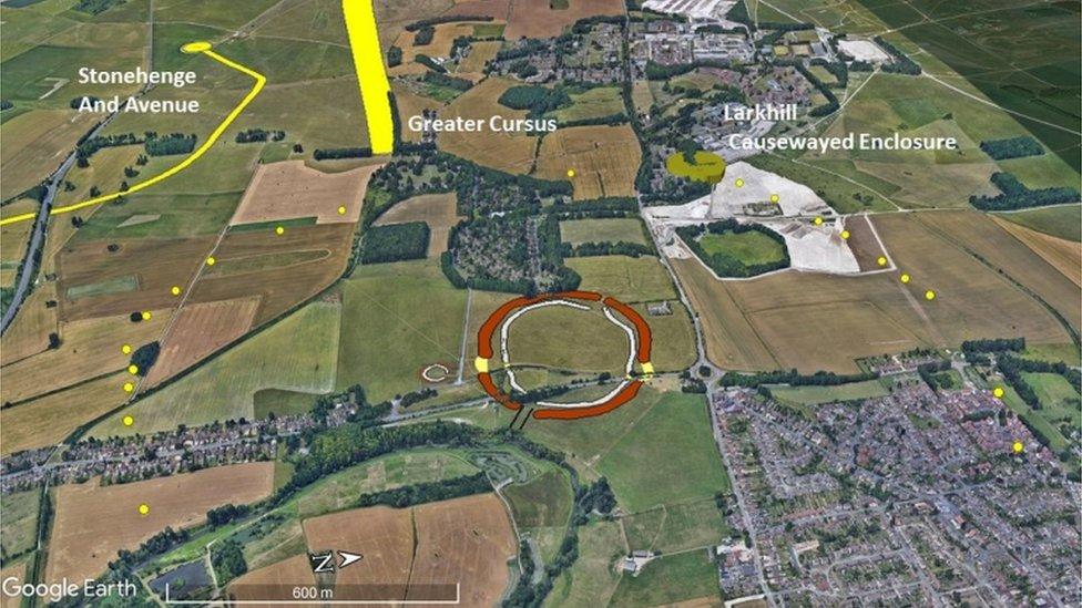 Foto Aerial lokasi penemuan lubang Neolitik