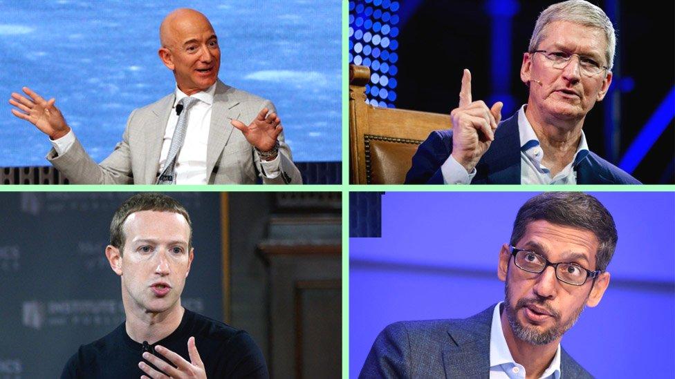 Jefes de las grandes tecnológicas