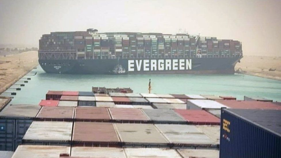 Panama bandıralı Ever Given adlı gemi