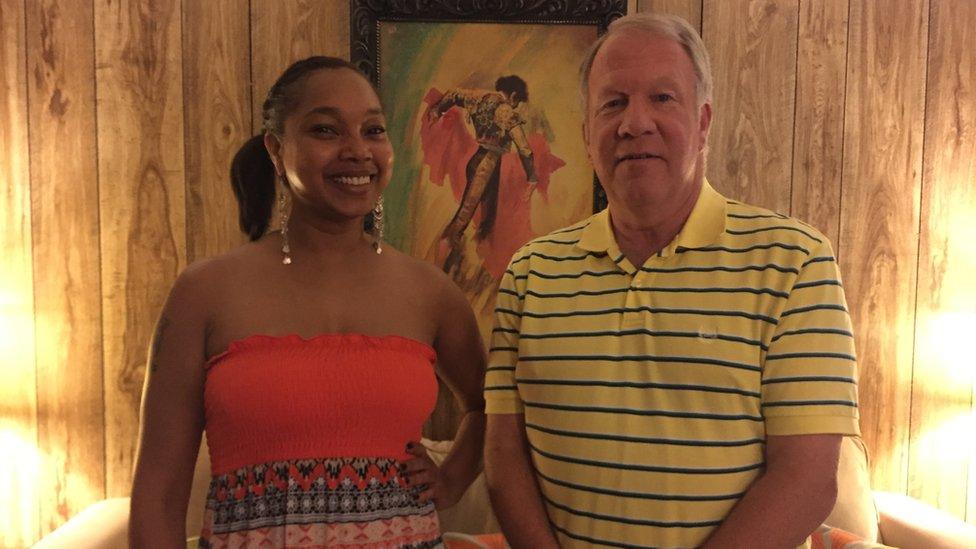 Mayor Danny Turner and Mellissia Jennise Giles