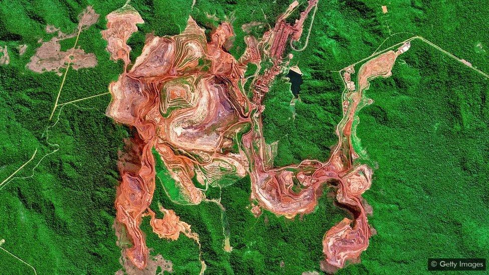 Brezilya'da demir madeni