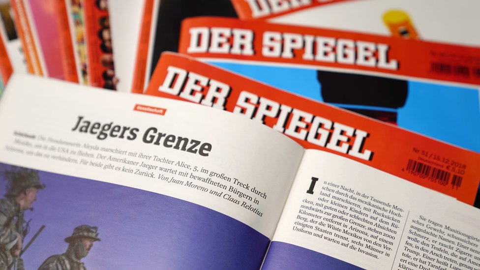 German magazine Der Spiegel reveals scandal of falsified reports