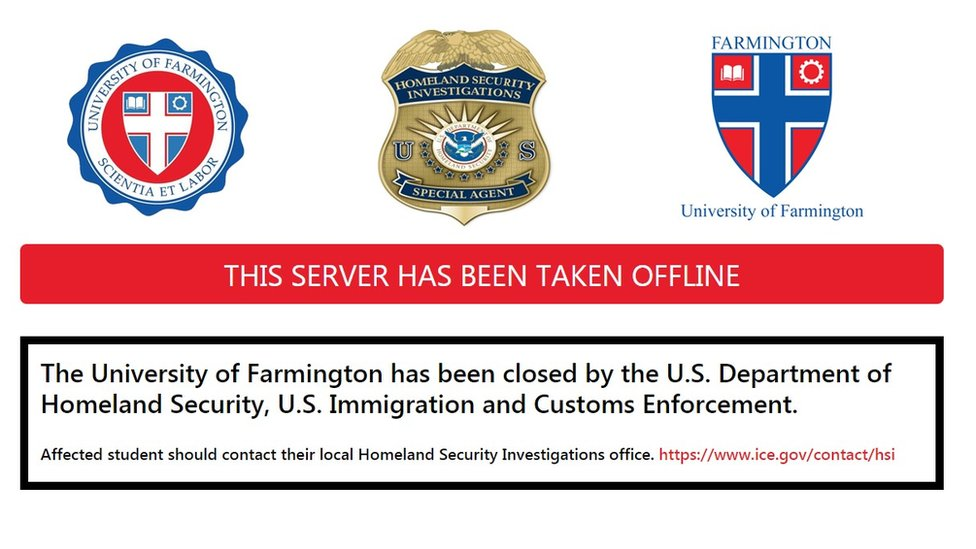 A screenshot of the website which ha snot been shut down by the US government.
