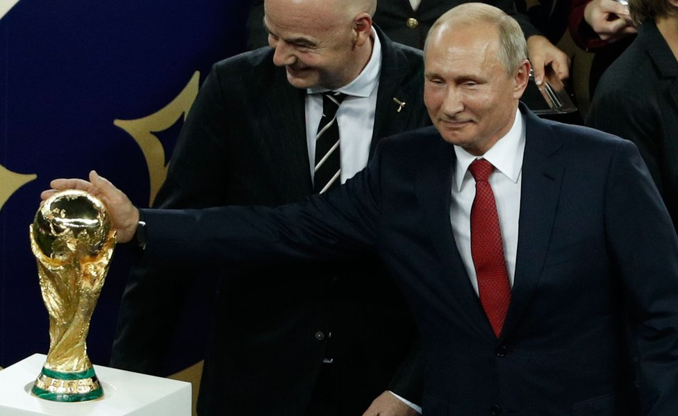 President Putin caresses World Cup