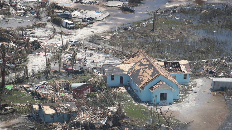 Destrucción en las islas Ábaco