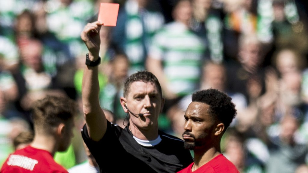 Shay Logan: Aberdeen lose appeal against red card at Celtic Park