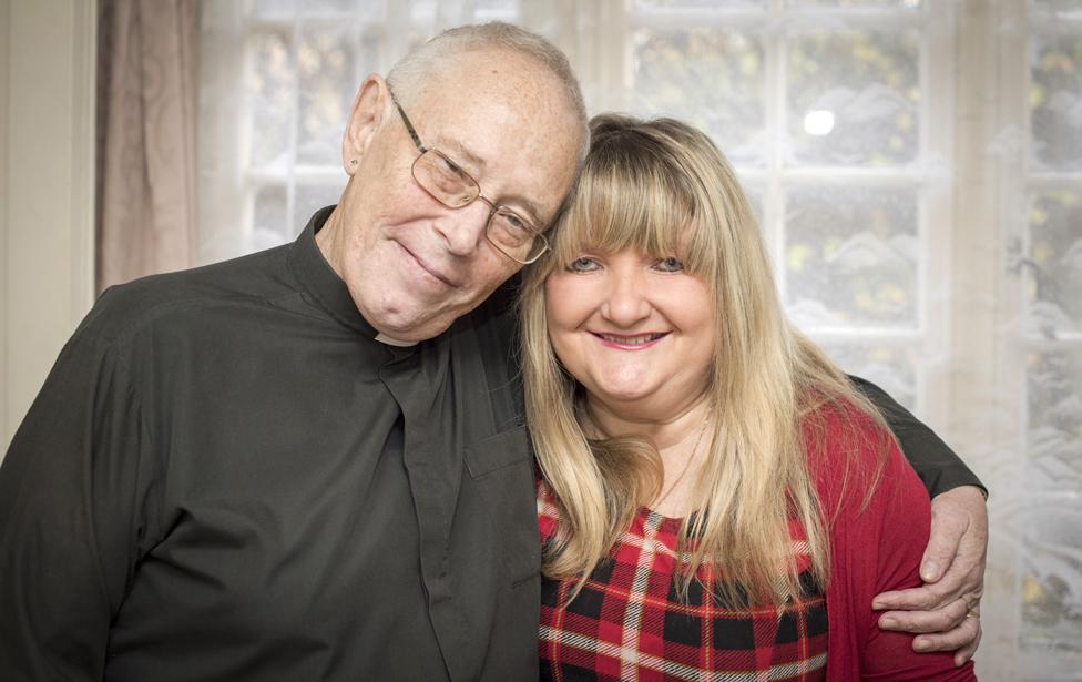 The Rev David Walford and Rachel Burns