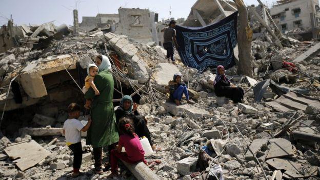 2014'teki Gazze saldırısında 1462'si sivil 2251 Filistinli hayatını kaybetti.