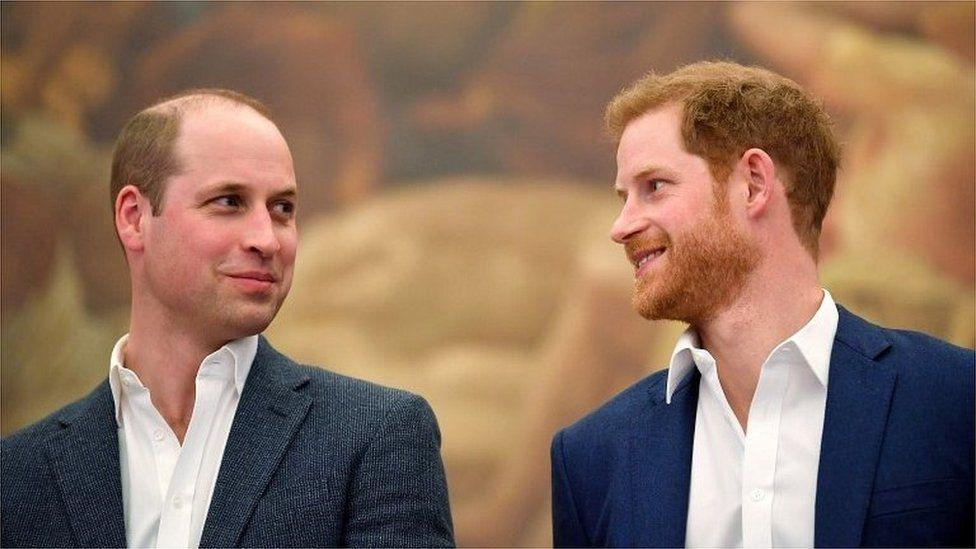 الأميران الشقيقان وليام وهاري