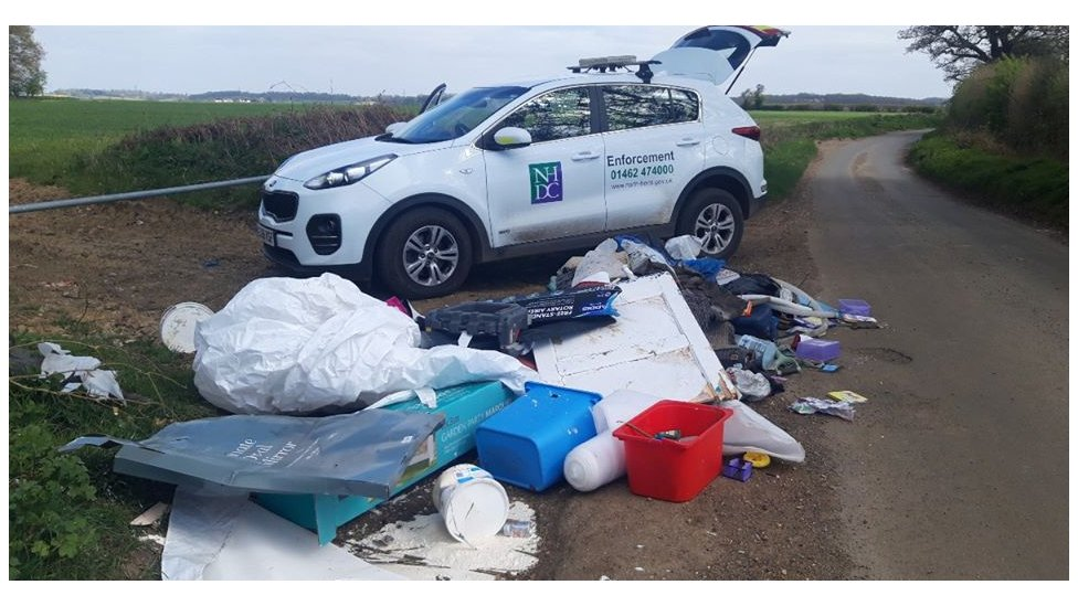 Fly-tipping in Herts