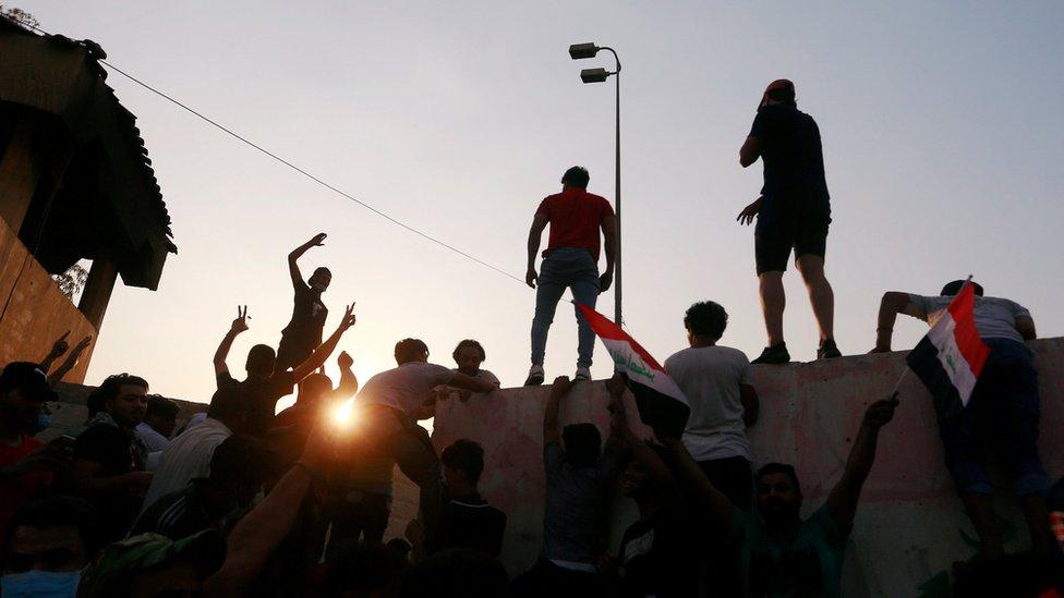 محتجون في البصرة