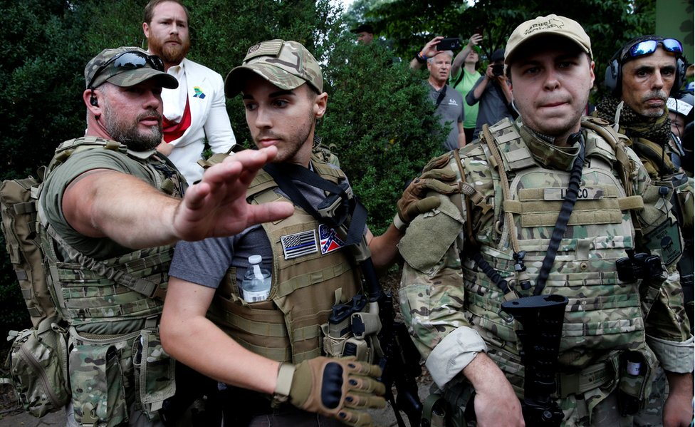 White nationalist militia descended on Charlottesville armed with rifles and handguns