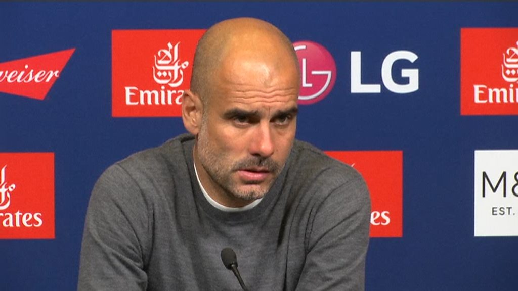 Manchester City: Pep Guardiola unhappy with FFP question after FA Cup win