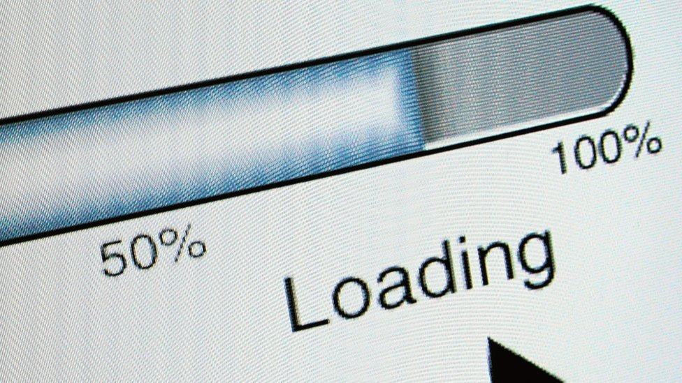 Internet loading bar