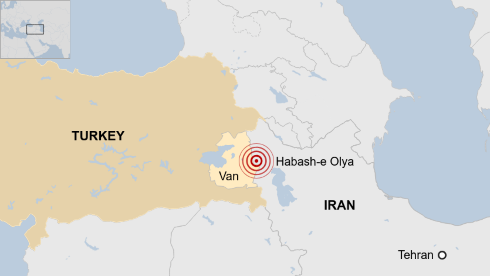 The earthquake caused damage on both sides of the Turkey-Iran border