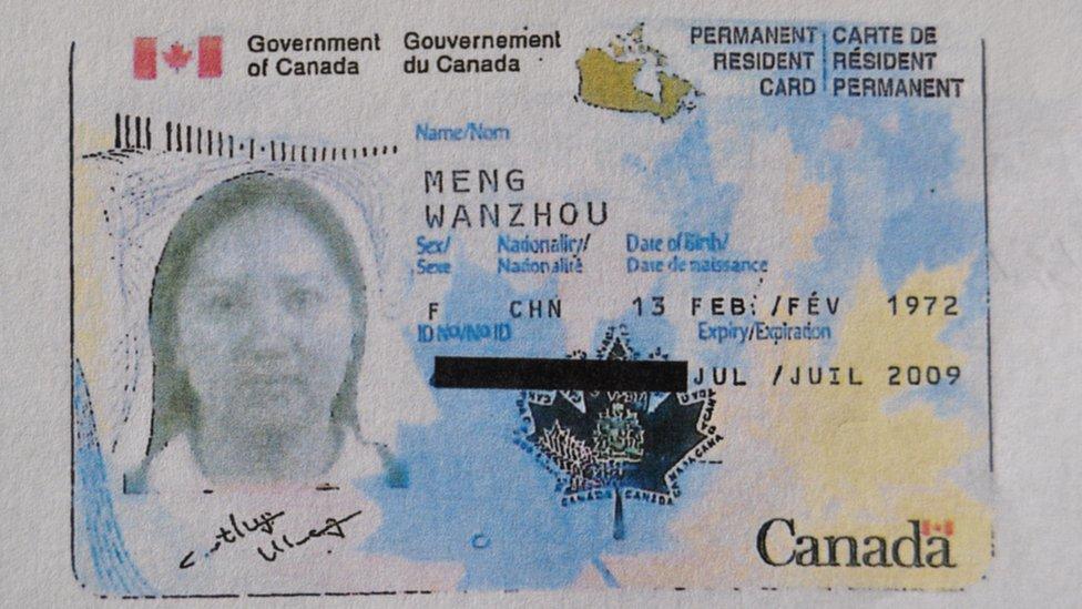 Meng Wanzhou permanent visa