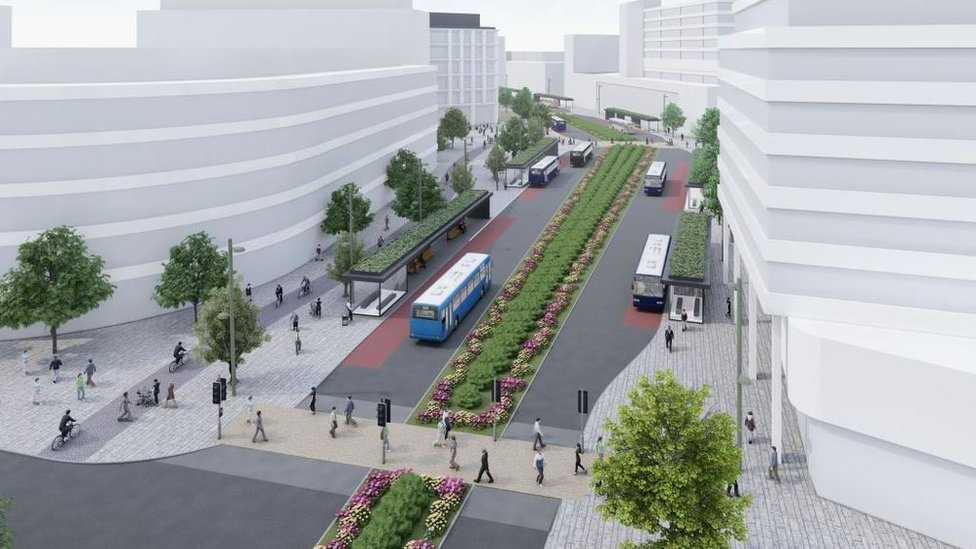 £30m bus boulevard planned for Swindon redevelopment