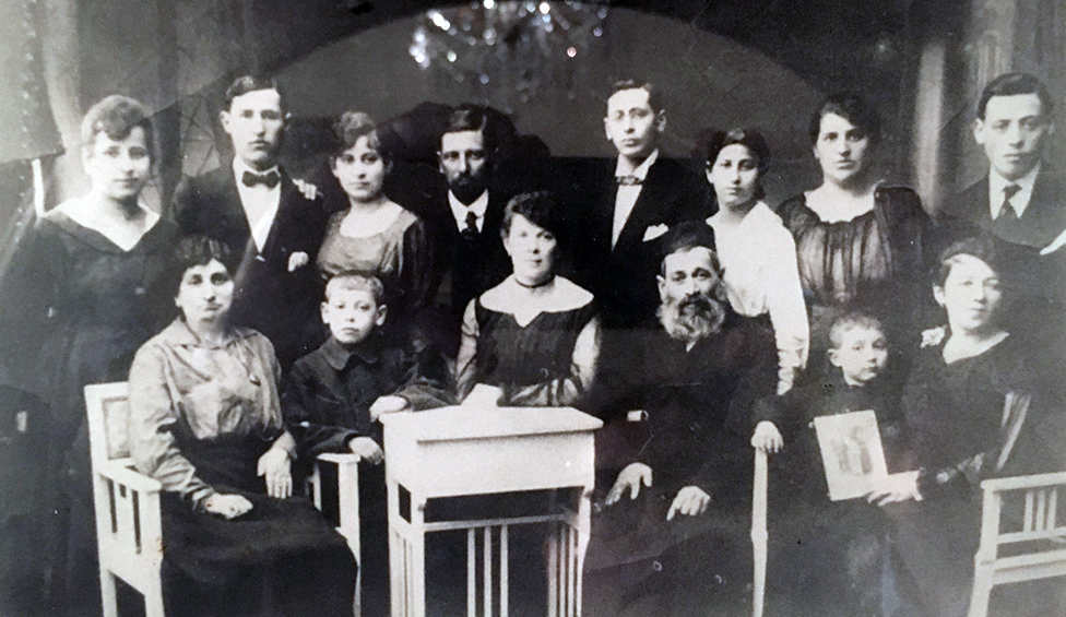 La familia Bach antes de la guerra.