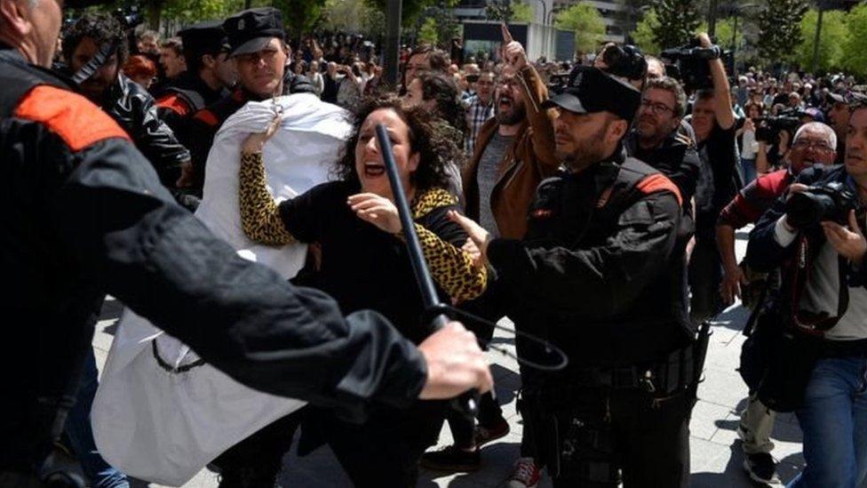 مظاهرة ضد قرار المحكمة