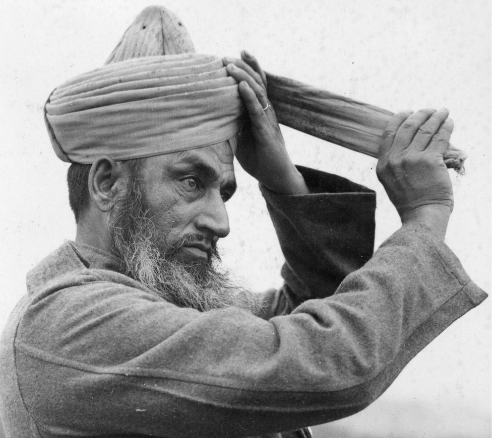 An Indian member of the Indian Army Services Corps, some of whom were evacuated from Dunkirk together with the British Expeditionary Force. (