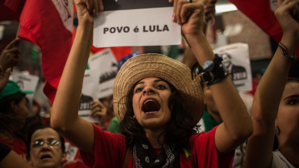 Partidarios de Lula.