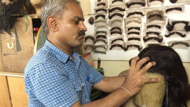 Marishetty Kumar, a wig-maker, is based in the southern Indian city of Bangalore.
