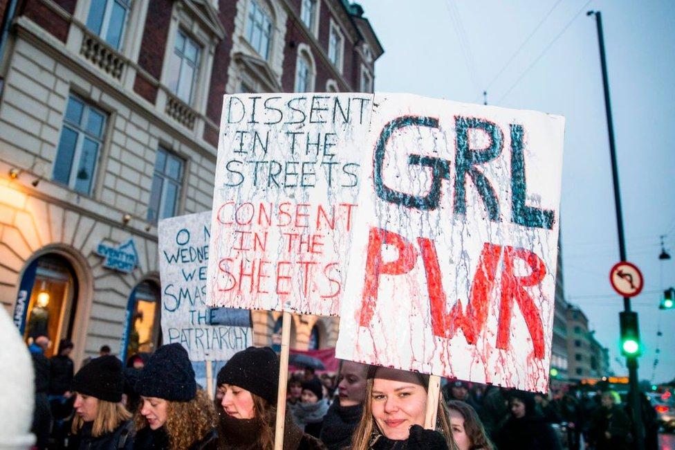 Manifestación de mujeres en Copenague en 2017