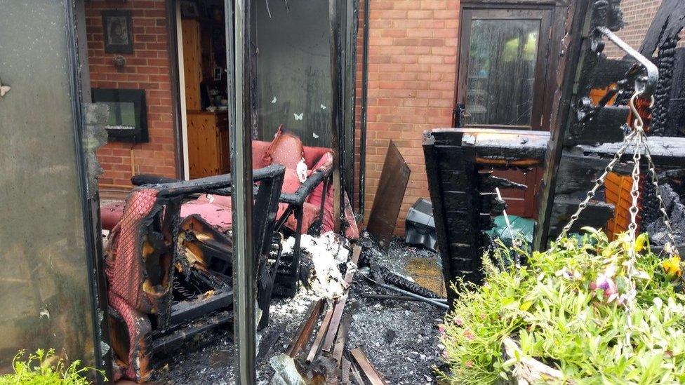 Essex fire crews deal with shed fire in Saffron Walden