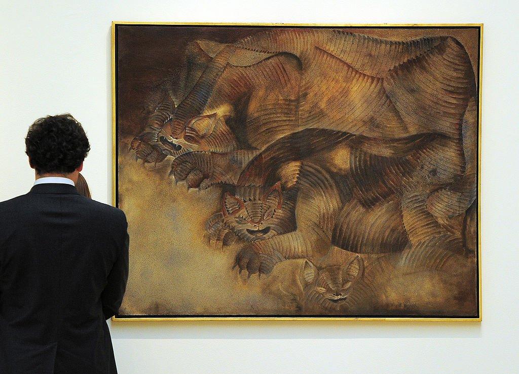 """El cuadro """"Gatos Con Pesadillas"""" en Nueva York"""