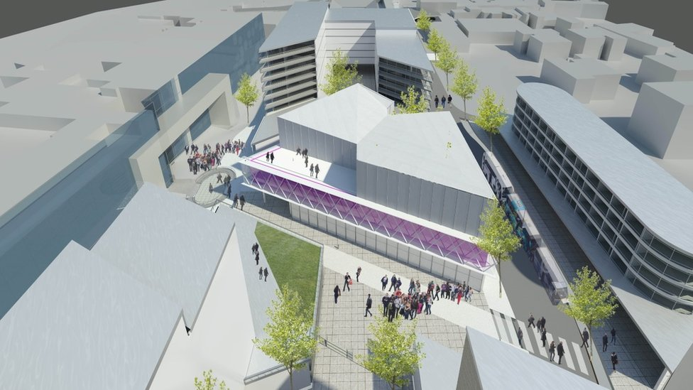 An artist's impression of what the new Greyfriars development will look like.