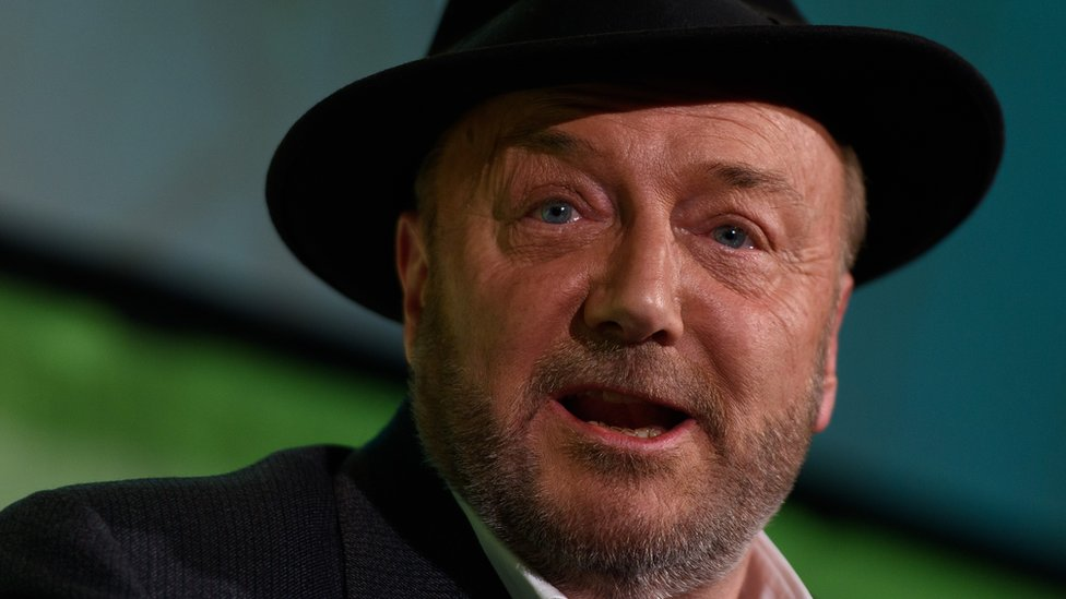 Picture of George Galloway - one of the politicians and journalists who have had their Wikipedia pages changed by a mystery Wikipedia editor