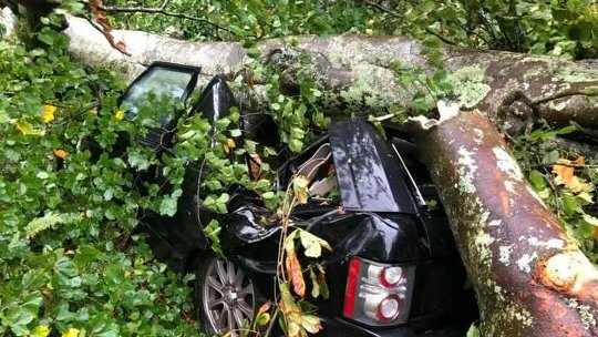 Storm Callum: Man dies in Brighton as cars crushed in Cornwall