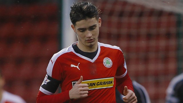 Jay Donnelly scored a hat-trick for Cliftonville against Sport& Leisure Swifts in the Irish Cup
