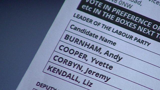 Labour leadership voting form