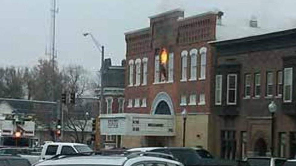 في عام 2010 نشب حريق في دار العرض السينمائي الشهيرة