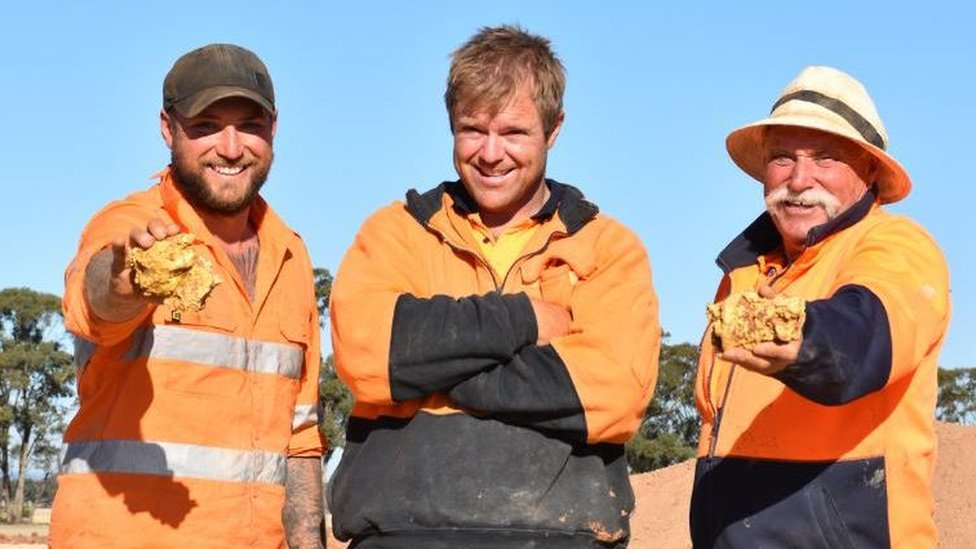 Brent Shannon and Ethan West found the nuggets while on TV show Aussie Gold Hunters