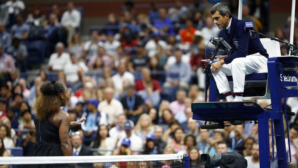 Sudija Ramos je upozorio Serenu za vreme finala US Opena 2018. godine protiv Naomi Osake