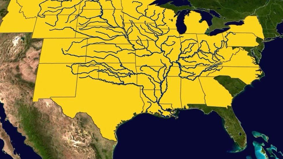 Ríos que confluyen hacia el Golfo de México
