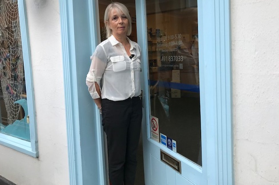 Lisa Morgan with blue ribbon