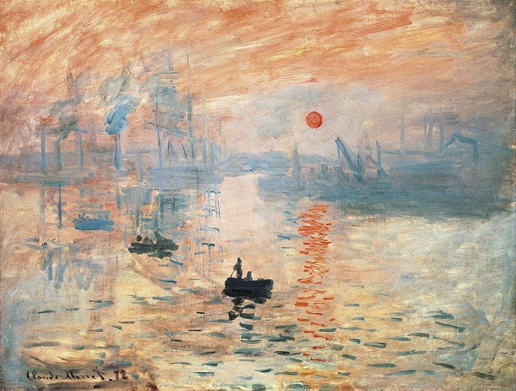 Impresión, sol naciente, de Claude Monet.